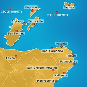 Cartina Puglia Isole Tremiti.Come Arrivare Alle Isole Tremiti