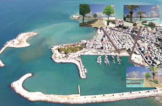 Veduta aerea del Porto di Vieste