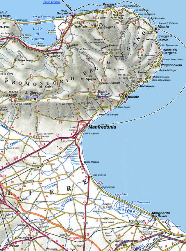 Cartina Puglia Con Tutti I Paesi.La Cartina Della Puglia Con Mappa Delle Varie Subregioni Della Puglia