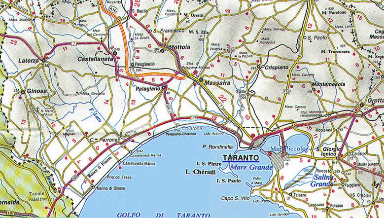 La Cartina Della Puglia Con Mappa Delle Varie Subregioni Della Puglia