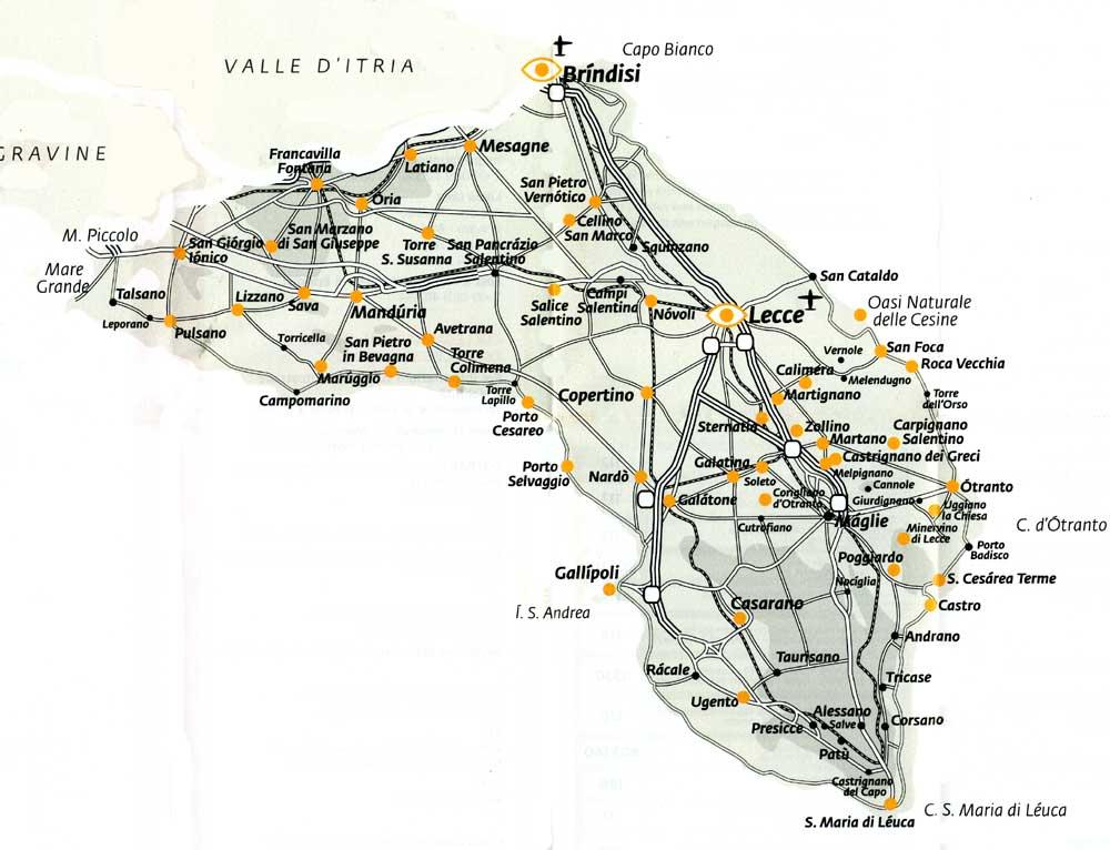 Cartina Puglia San Foca.Offerte Salento Vacanze Con Prenotazione Hotel Case Vacanza