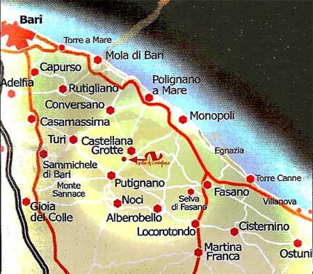 Cartina Puglia Noci.Itinerario Grotte Di Castellana Speleologia E Speleo Turismo A Castellana Grotte Museo Speleologico Bari Puglia Castellana Grotte