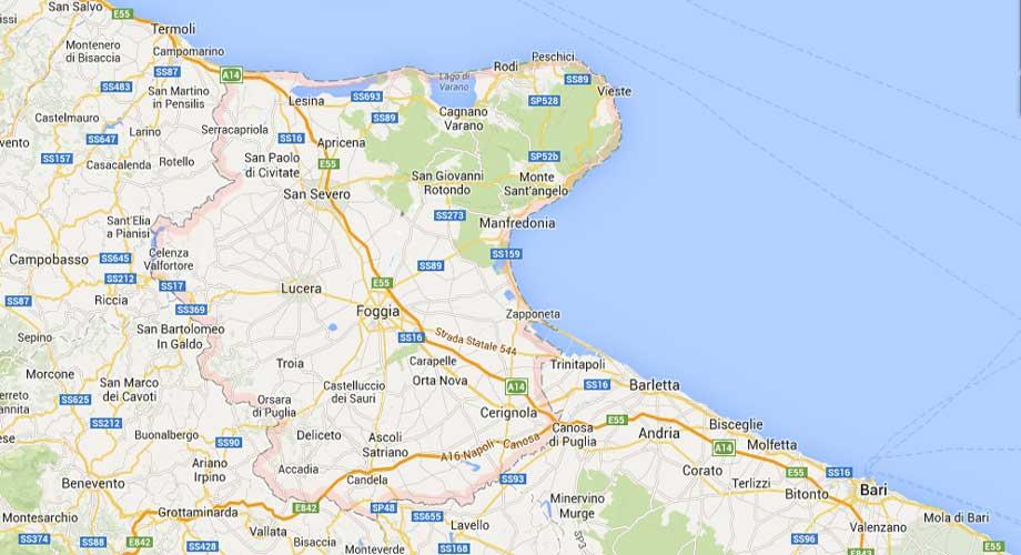 Cartina Puglia Con Province.La Provincia Di Foggia