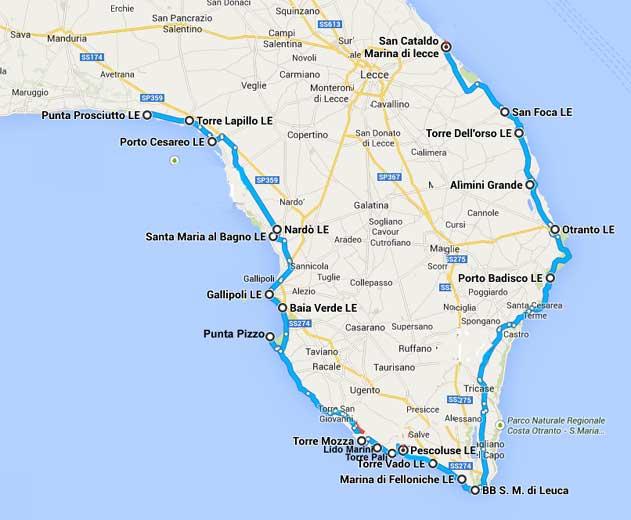 Cartina Puglia San Foca.Le Spiagge Piu Belle Del Salento Dal Mare Adriatico Al Mare
